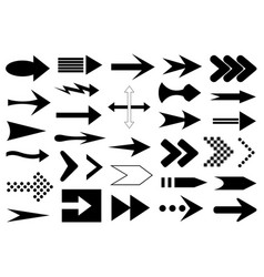 collection different arrows vector image