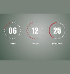 countdown template digital clock vector image