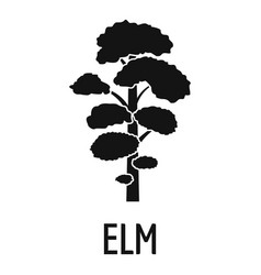 Elm tree icon simple black style vector