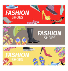 fashion shoes advertising poster vector image