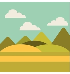 Field landscape isolated icon vector