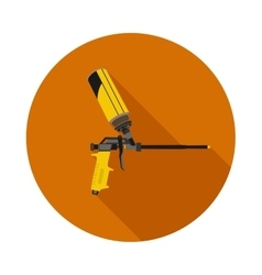 flat icon gun for foam vector image