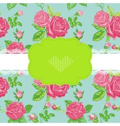 Floral shabchic card vector