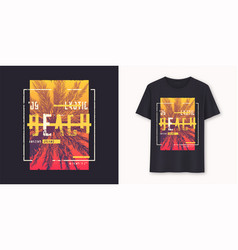 florida exotic beach stylish graphic t-shirt vector image