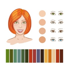 Girl autumn color type vector image