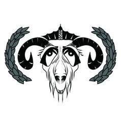 Goat king vector
