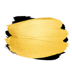 Golden brush stroke banner for you amazing vector