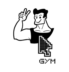 Gym web vector