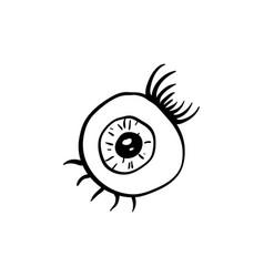 halloween eye doodle element isolated vector image