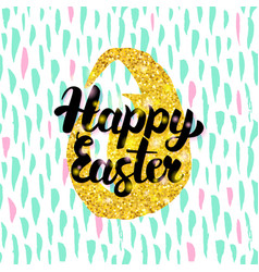 happy easter handwritten design vector image