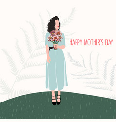 happy mothers day mom card template vector image