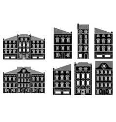 houses old european city street with buildings vector image