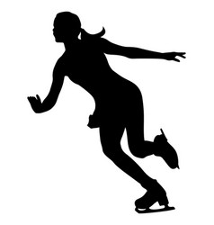 Ice dancing figure skating vector