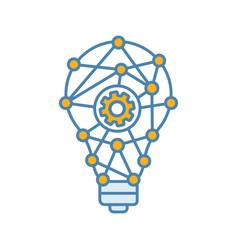 Innovation process color icon vector