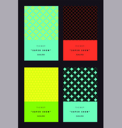 Invitation colorful cards set vector