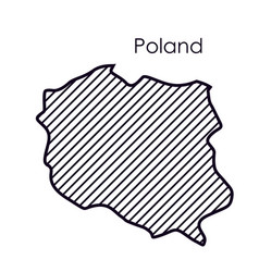Isolated poland map design vector