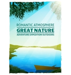 Lake Nature Landscape Background Poster vector image