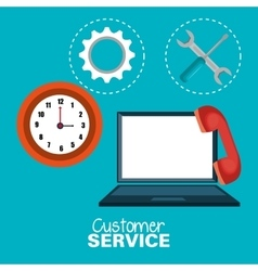 laptop customer service call center design vector image
