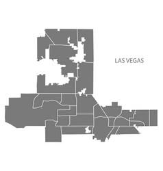 las vegas nevada city map with neighborhoods grey vector image