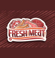 logo for fresh meat vector image
