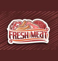 Logo for fresh meat vector