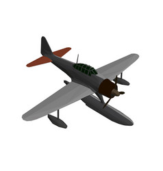 Low poly plane for takeoff and landing on water vector