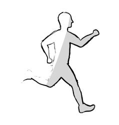 Man running fitness vector