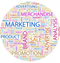 marketing vector image