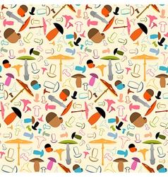 Mushroom Seamless Pattern - Background vector image