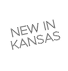 new in kansas rubber stamp vector image