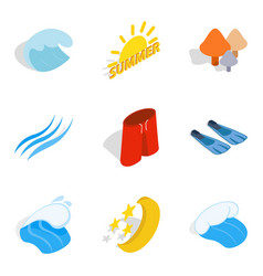 Peace icons set isometric style vector