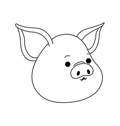 pig cute cartoon vector image