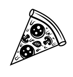 pizza slice object or design element vector image