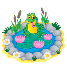 pond theme image 1 vector image