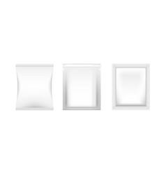 realistic blank pack mockup packaging bag on vector image