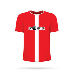 red and white t-shirt vector image