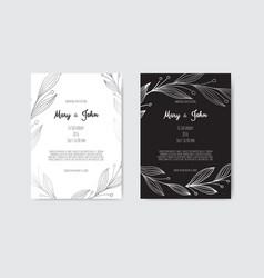 set floral design card greeting postcard vector image