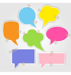 Set of colorful speech bubbles with smooth shadow vector image