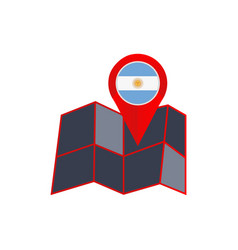 Simple argentina map pins are isolated vector
