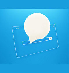 simple internet browser window with speach cloud vector image