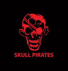 skull pirates vector image