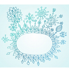 snowflakes frame vector image vector image