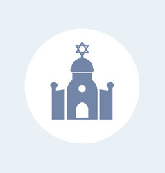 synagogue icon isolated on white vector image
