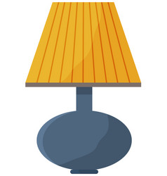Table lamp isolated on white background lighting vector