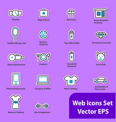 The set of flat icons for web sites vector