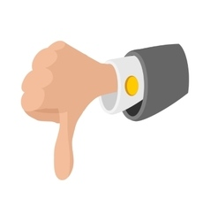 Thumb down gesture icon cartoon style vector image