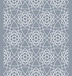 traditional oriental muslim pattern grid geometric vector image