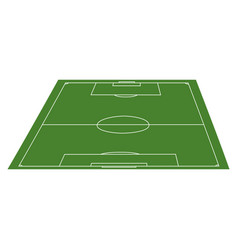 view of a soccer field vector image