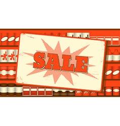 Vintage sale sign vector image