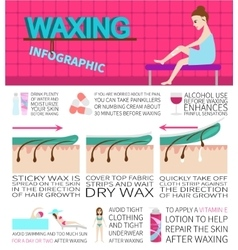 Waxing infographics Information and facts about vector